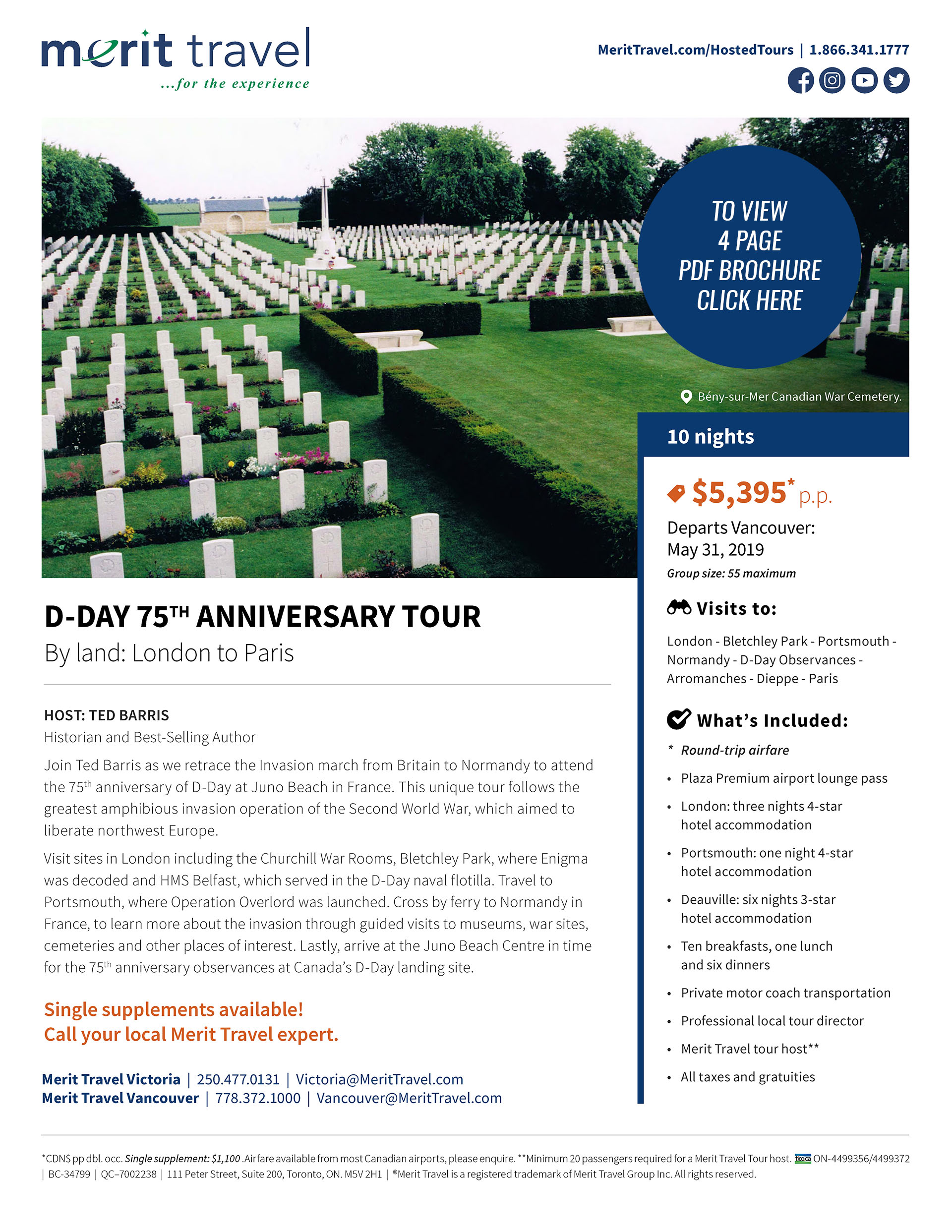 d day 75th anniversary merit travel bcrta